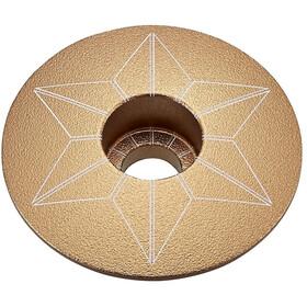 Supacaz Star Capz Ahead-Kappe eloxiert gold